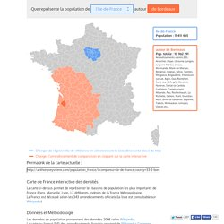 Carte de France interactive des densités