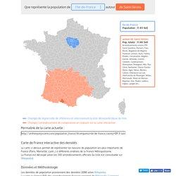 Carte de France interactive des densités