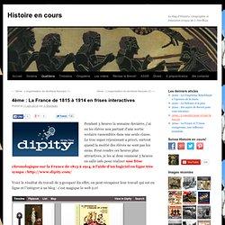 La France de 1815 à 1914 en frises interactives