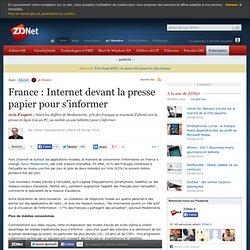 France : Internet devant la presse papier pour s'informer