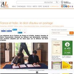 France et Italie : le droit d'auteur en partage
