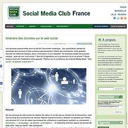 Itinéraire des données sur le web social