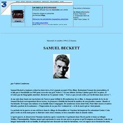 France 3 en ligne: Un siecle d'ecrivains