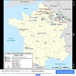 NATO AB in France map-fr - Liste des bases de l'OTAN en France