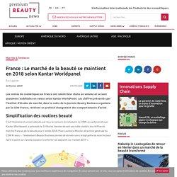 France: Le marché de la beauté se maintient en 2018 selon Kantar Worldpanel