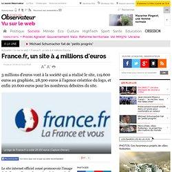 France.fr, un site à 4 millions d'euros - Vu sur le web