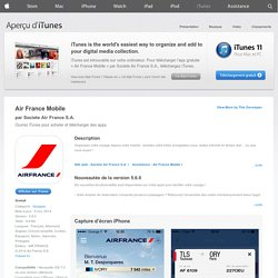 Air France Mobile pour iPhone, iPod touch et iPad sur l?iTunes App Store