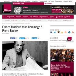 Partager des contenus et des liens (France Musique rend hommage à Pierre Boulez)