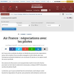 Air France : négociations avec les pilotes