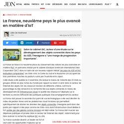 La France, neuvième pays le plus avancé en matière d'IoT
