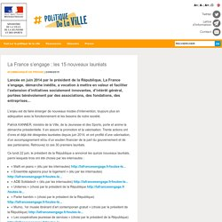 La France s'engage : les 15 nouveaux lauréats