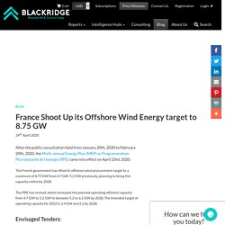 France Shoot Up its Offshore Wind Energy target to 8.75 GW