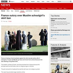 France outcry over Muslim schoolgirl's skirt ban - BBC News