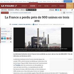 Conjoncture : La France a perdu près de 900 usines en trois ans
