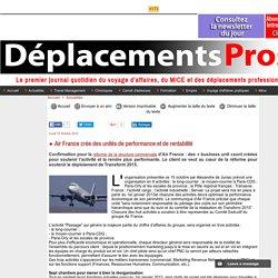 Air France crée des unités de performance et de rentabilité