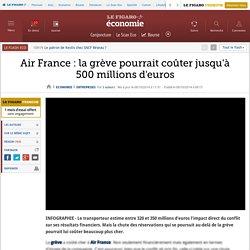 Air France : la grève pourrait coûter jusqu'à 500millions d'euros