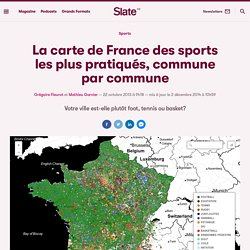 La carte de France des sports les plus pratiqués, commune par commune