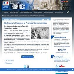Morts pour la France de la Première Guerre mondiale