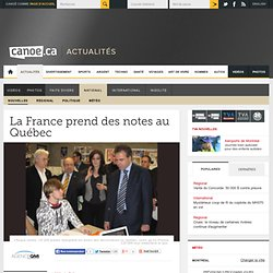 Québec-Canada: La France prend des notes au Québec