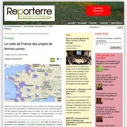 La carte de France des projets de fermes-usines