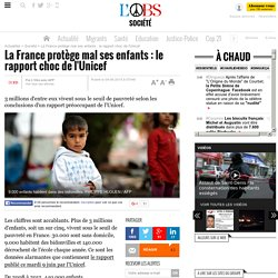 La France protège mal ses enfants : le rapport choc de l'Unicef