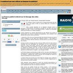 La France publie le décret sur le blocage des sites, sans juge