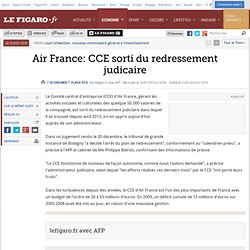 Air France: CCE sorti du redressement judicaire