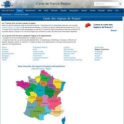 CARTE DE FRANCE REGION - Carte des régions Françaises