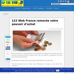 123 Web France remonte votre pouvoir d'achat