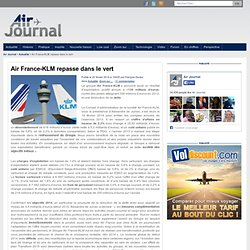 Air France-KLM repasse dans le vert