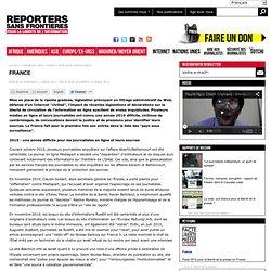 """Liberté des infos: France 2010-2011 """"sous surveillance"""""""