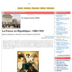 La France en République : 1880-1945 - Clio-Lycée