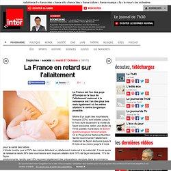 La France en retard sur l'allaitement