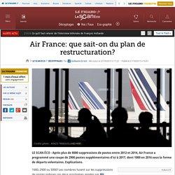Air France: que sait-on du plan de restructuration?