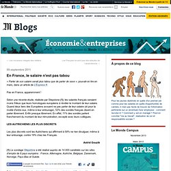 En France, le salaire n'est pas tabou