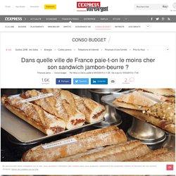 Dans quelle ville de France paie-t-on le moins cher son sandwich jambon-beurre ?