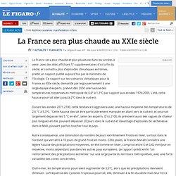 La France sera plus chaude au XXIe siècle