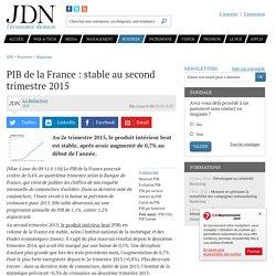 PIB de la France : nouvelle stagnation de l'activité du pays au 2e trimestre
