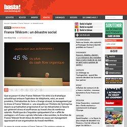 France Télécom : un désastre social - Conditions de travail - Ba
