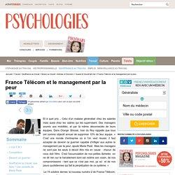 France Télécom et le management par la peur :