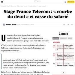 Stage France Telecom: «courbe du deuil» et casse du salarié - 1 octobre 2010