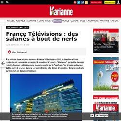 France Télévisions : des salariés à bout de nerfs
