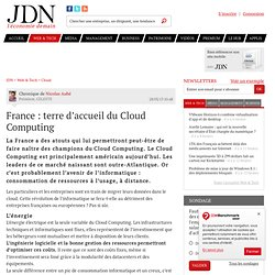 France : terre d'accueil du Cloud Computing
