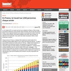 En France, le travail tue 1200 personnes chaque année - Basta !