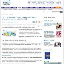 L'état de la France et du travail dans les 25 prochaines années selon le CESE