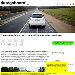 france unveils wattway, the world's first solar panel road