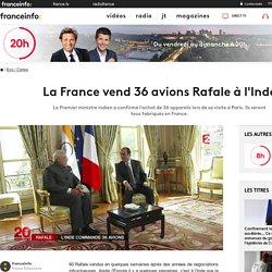 La France vend 36 avions Rafale à l'Inde