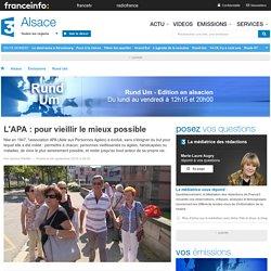 France 3 Alsace - L'APA : pour vieillir le mieux possible - 26/09/16