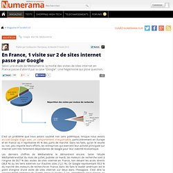 En France, 1 visite sur 2 de sites internet passe par Google