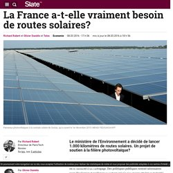 La France a-t-elle vraiment besoin de routes solaires?